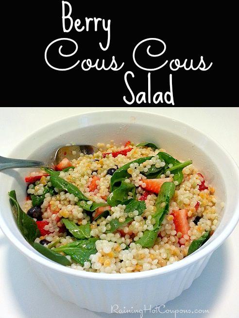 Berry Cous Cous Salad (Summer Vegetarian Recipes) --> http://www.raininghotcoupons.com/summer-vegetarian-recipes-refreshingly-berry-cous-cous-salad