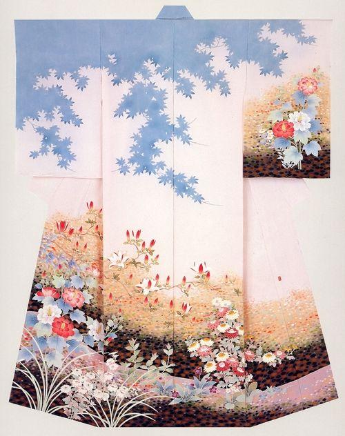 I love the sky effect on this stunning Kimono.