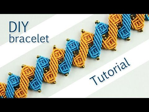M Double Zig-Zag Bracelet Tutorial //////// - YouTube