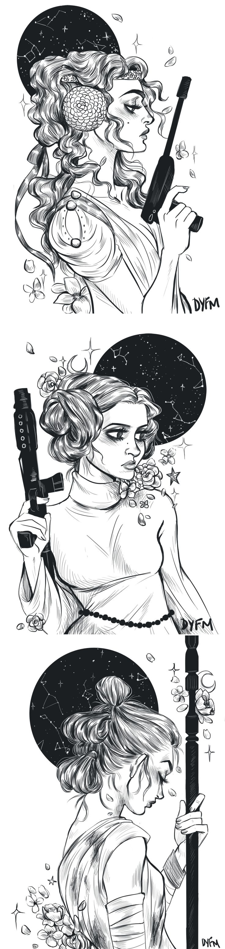 support your local space ladies - this art style is amazing