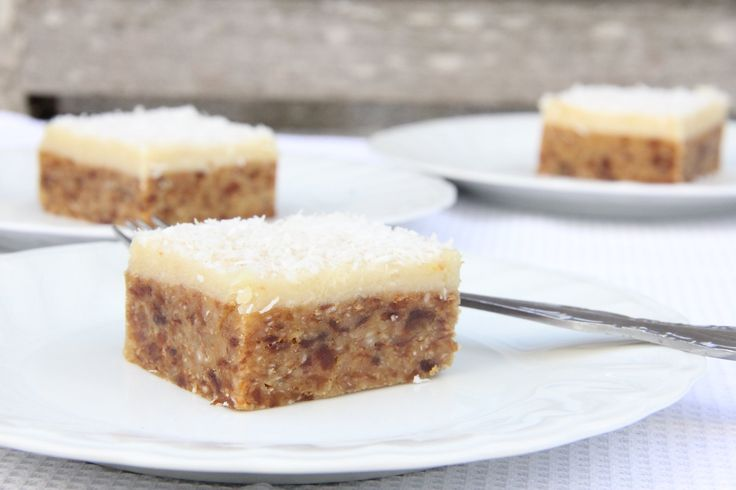 Lemon Coconut & Apricot Fudge Slice