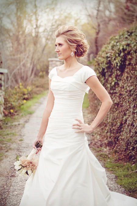 beautiful modest wedding gown