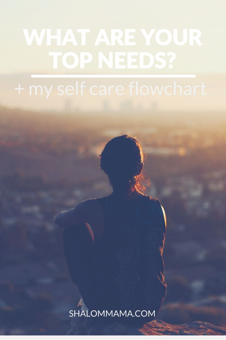 Are you neglecting your top needs? How to figure out your top needs and create a self care flowchart.