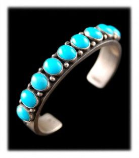 Sleeping Beauty Turquoise Jewelry - Navajo Turquoise Bracelet