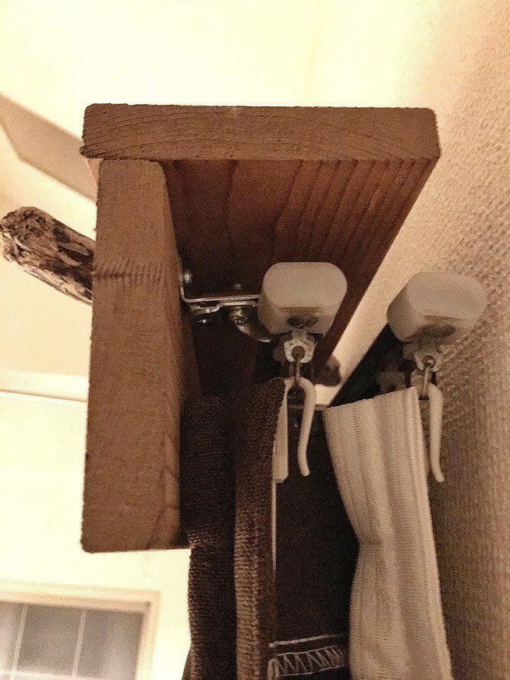 賃貸でも簡単に取り付けられる 木材の質感を楽しむ カーテンボックス