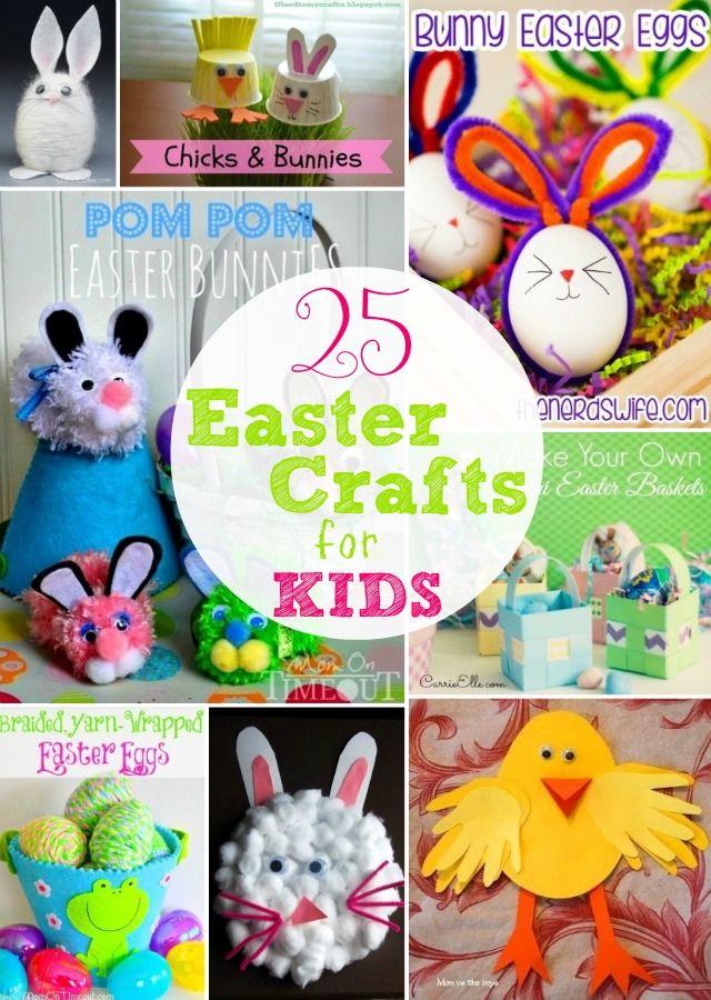 25 Easter Crafts for Kids @HomeLifeAbroad.com #easter #eastercrafts #kidscrafts