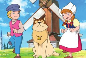 Nelo, Patrasche, and Aloa~ ・ フランダースの犬 「A Dog of Flanders」 ・ Original run:  aired on Fuji TV between January 5, 1975 and December 28, 1975. ・ 52 Episodes