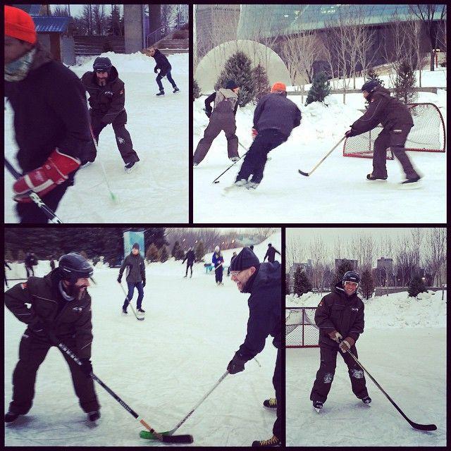 La Cascarita Canadiense de Ayer #HockeyTime @theforkswinnipeg