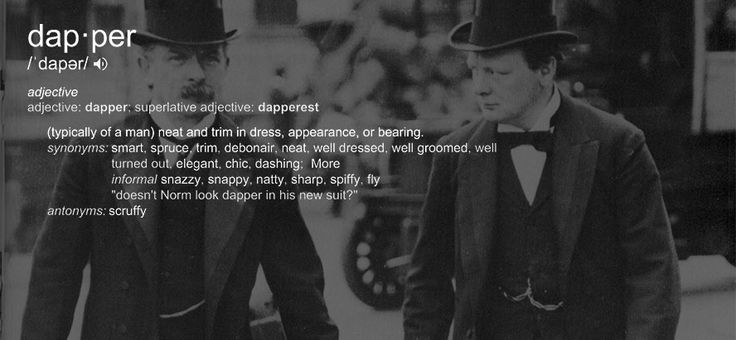 "What does the word ""Dapper"" Mean for those who still use it Today?"