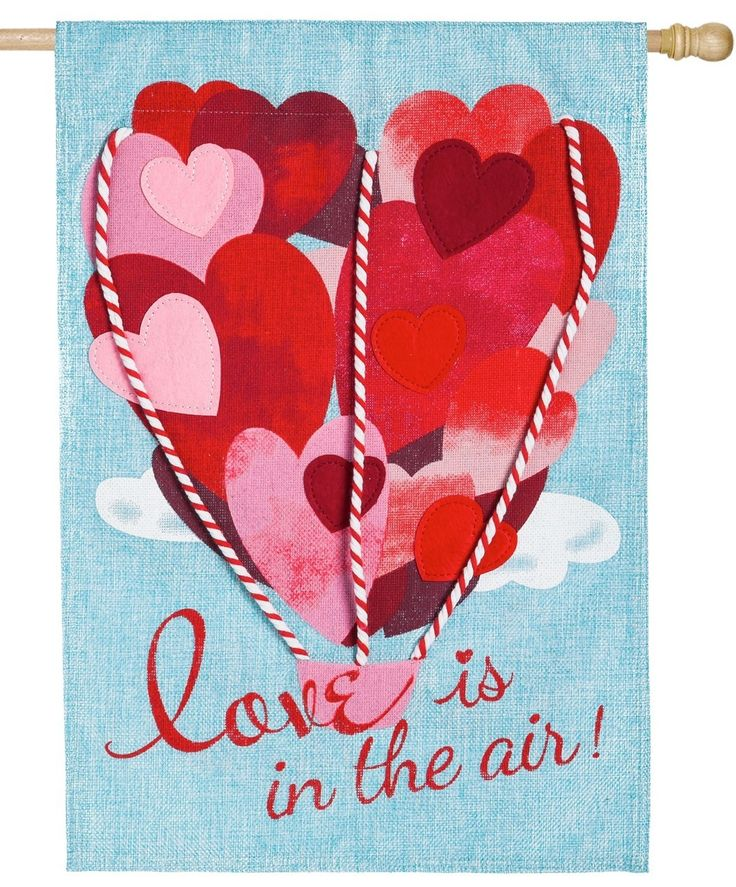 IAmEricas Flags - Burlap Love is in the Air Decorative House Flag, $28.00 (http://www.iamericasflags.com/burlap-love-is-in-the-air-decorative-house-flag/)
