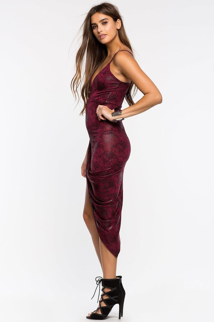 Skin Shine Asymmetrical Dress