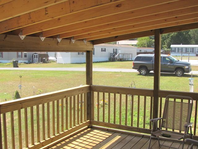 Mobile home porches custom built decks ideas for the house pinterest home photos and - Mobile home deck designs ...