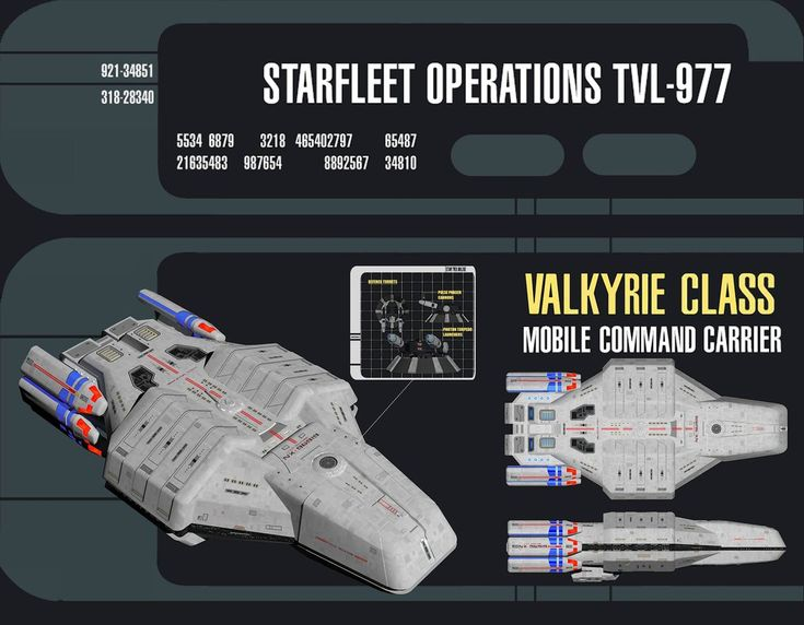 The USS Valkyrie is my redesign of a Star Trek fighter carrier starship, the USS Typhon (from the old PS1 game 'Star Trek: Invasion'). I've upscaled her so that she's big enough to carry 2 x Defian...