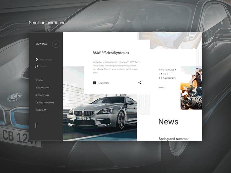 BMW USA - Scrolling animation by Anton Skvortsov