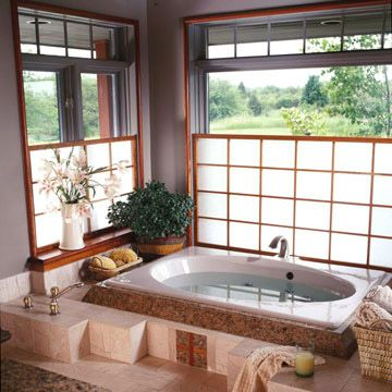 Filter Light with Shoji Screens Muted light shines through shoji screens and creates the perfect backdrop for a long soak. The adjustable sc...