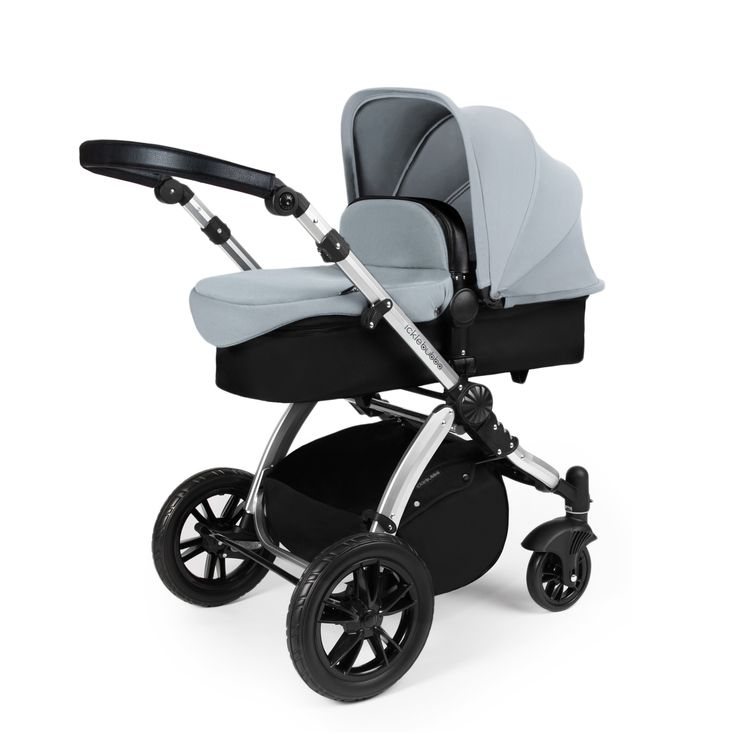 The Stomp V3 all in one travel system has everything you'll need from infant to toddler, adapting easily from carrycot to use from birth to 6 months, to pushchair from 6 months to 3 years and a car seat to take you and your baby wherever you want to explore.This one stop bundle has a choice of chassis colour, fabric colours, multiple accessories and an Isofix compatible Galaxy Group 0+ car seat that attaches to the same pram chassis and is the only purchase you'll need to take your b...