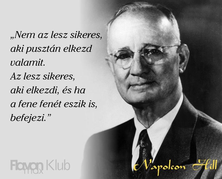 Napoleon Hill idézete a kitartásról. A kép forrása: Flavon max Klub # Facebook