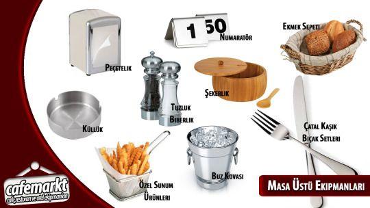 Masaüstü ekipmanları ile masaları donatıyoruz. Tıklayın kaliteli mutfak ekipmanlarını en uygun fiyatlara alın. http://www.cafemarkt.com/masa-ustu-ekipmanlari #Cafemarkt #Masaüstüekipmanları #Tuzluk #Küllük #Değirmen #Buzkovası #MenajTakımı #ekmeksepeti #tabak #Porselentabak #çatalkaşıkseti #Çatal #Kaşık #Bıçak #Amerikanservis #Numaratör #Sürahi,Sosluk cafemarkt.com,masa üstü ekipmanları,tuzluk,küllük,değirmen,buz kovası,biberlik,menaj takımı,ekmek sepeti,porselen tabak,çatal kaşık bıçak…