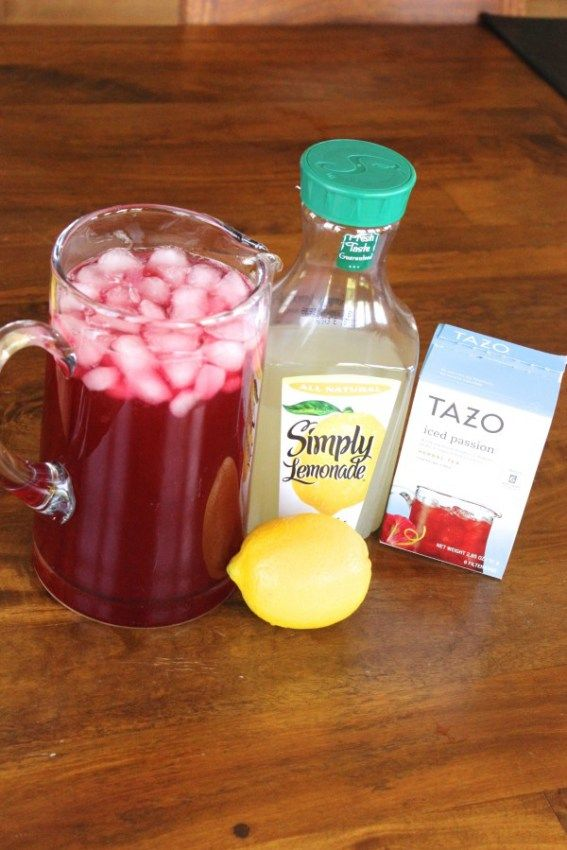 Passion Fruit and Lemonade Iced Tea.                                                                                                                                                                                 More