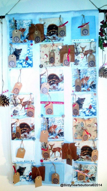 Christmas woodland animals advent calender by Birdyheartsbuttons