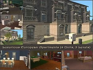 Mod The Sims - Luxurious European Apartments - 4 Units open for Rent