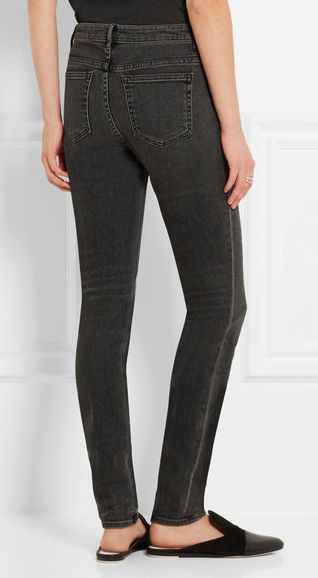 """ALEXANDER WANG Wang 001 high-rise skinny jeans """"Alexander Wang's effortlessly cool 'Wang 001' jeans are cut with a high-rise waist that flatters and elongates your legs."""