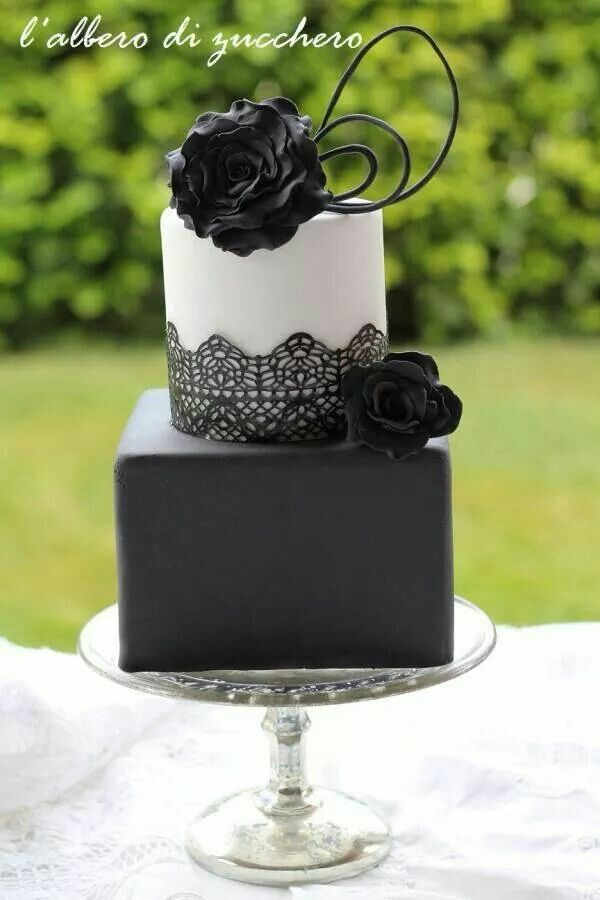 square black and white wedding cakes pictures%0A Beautiful Cake Pictures  Beautiful Black Lace Two Tiered Wedding Cake   Black  u     White Cakes  Cakes  u     Lace  Elegant Cakes  Flower Cake  Wedding Cakes