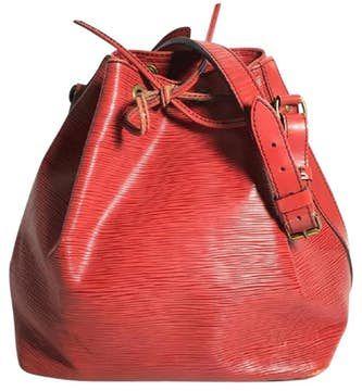 Louis Vuitton |  Bolso de hombro auténtico de Louis Vuitton Red Epi Noe