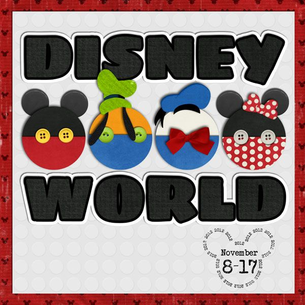 Disney scrapbook album cover by Aussiegirl; MouseScrappers.com