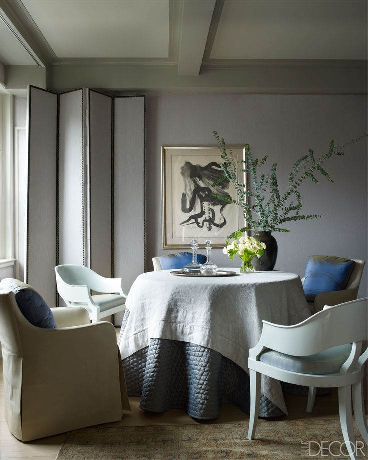 John Saladino ~ In The Dining Room, The Leather Covered Chair And Custom