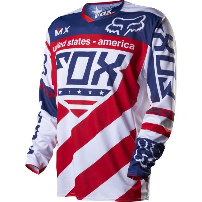 maillot fox racing 360 mx of nations usa replica 2014