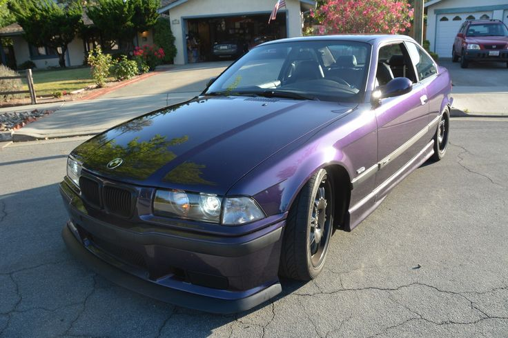 Quick photo shoot outside the house! No spoiler 1998 BMW M3 Techno Violet Coupe Purple Stance Low Slammed Racecar LTW Racing Fast Mtechnic Mpower Slicktop Catuned Goals Bavarian Motorsport Rare Want Need