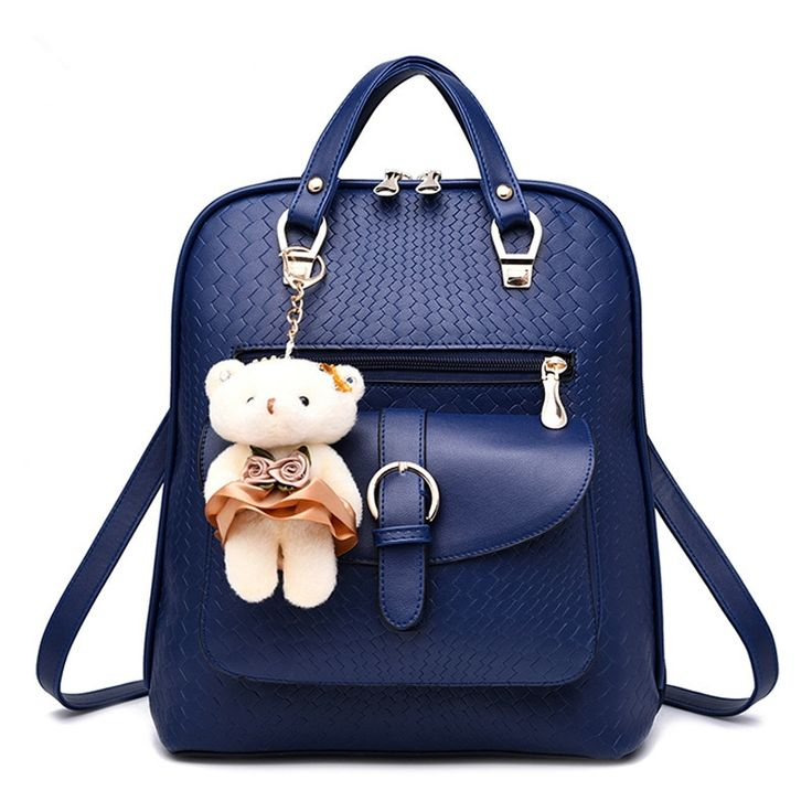 64.75$  Watch here - http://aiq1v.worlditems.win/all/product.php?id=32792719100 - Fashion PU Backpacks Students' Schoolbag Casual Traveling Pratical Women Girl's Backpack Bag Zipper