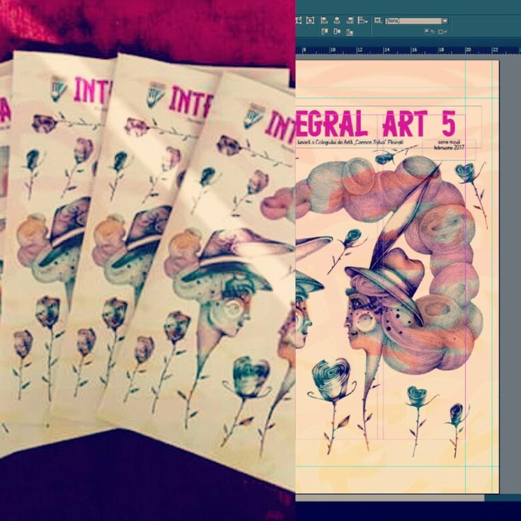 #magazine #integralart #school #illustration #illustrator #cover #indesign #iuliaignatillustration #lmrignat #roses #characterdesign