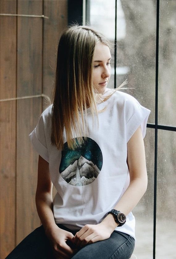 Mountain t-shirt printed Zodiac print t-shirt by ShopLaLune