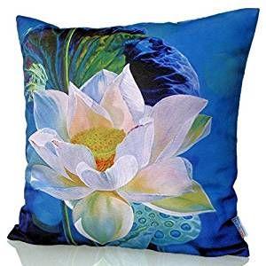 Sunburst Outdoor Living 60cm x 60cm LOTUS Federa decorativa per cuscini per divano, letto, sofà o da esterni - Solo federa, no interno