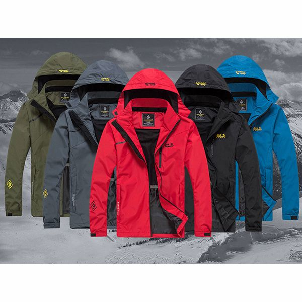 Mens Outdoor Climbing Breathable Water Resistant Thin Detachable Hood Jackets - Newchic Mobile version.