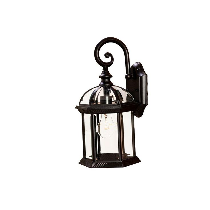 dover collection 1light matte black outdoor wallmount light fixture