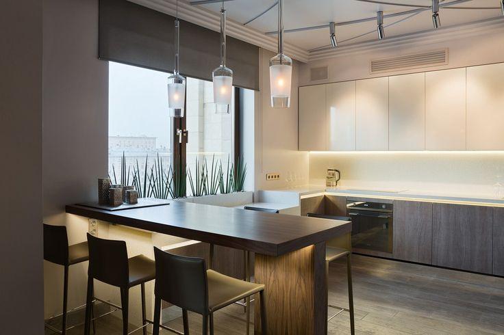 Архитектурная кухня и ничего лишнего - Кухня: рабочее пространство   PINWIN - конкурсы для архитекторов, дизайнеров, декораторов