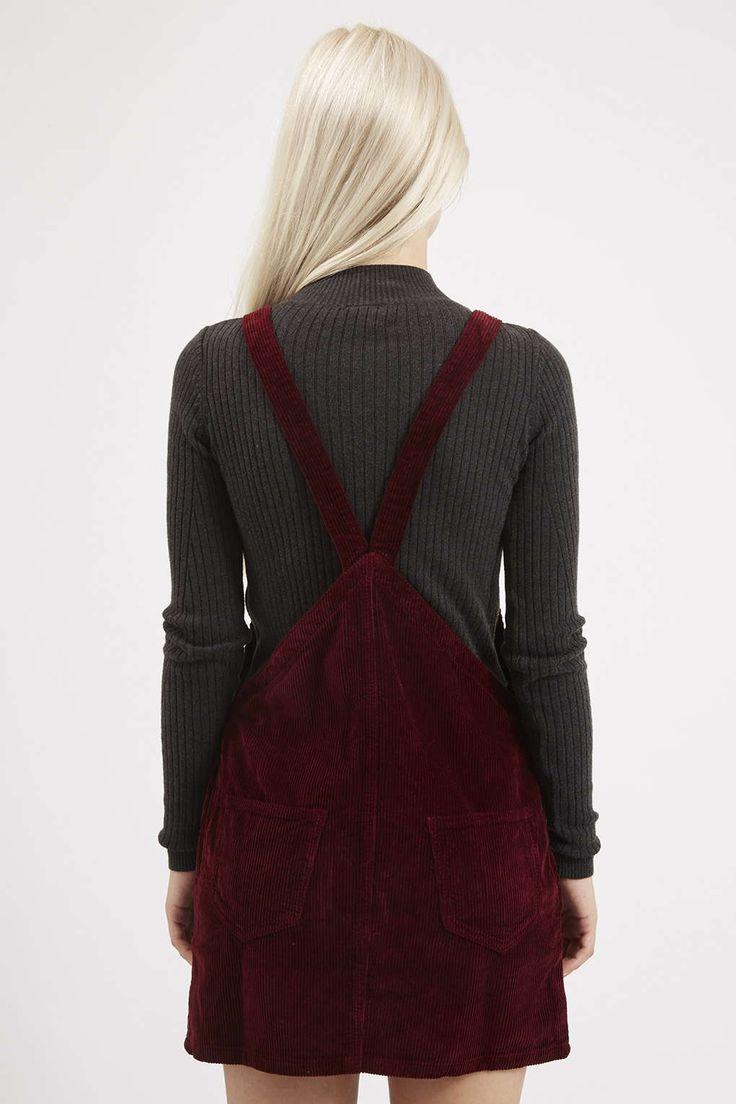 PETITE Cord Pinafore Dress - Topshop