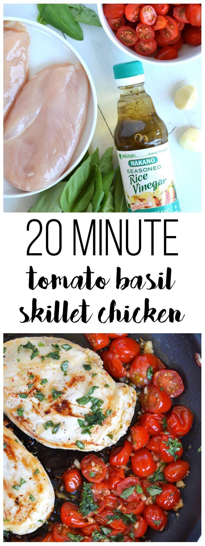 5861 best real food blogger favorites images on pinterest 20 minute tomato basil skillet chicken forumfinder Image collections