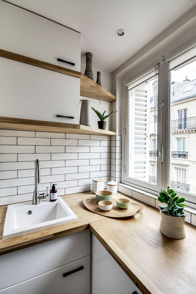 311 best Paris images on Pinterest Kitchen white, Small kitchens
