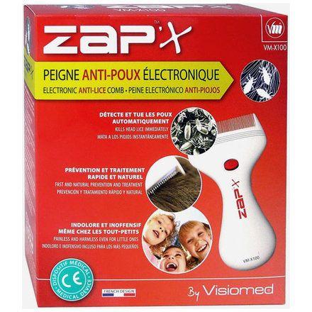 Lepeigne électronique anti-poux Zap'X est une alternative naturelle aux traitements traditionnels. Ce peigne anti-poux électronique détecte et tue les poux automatiquement.