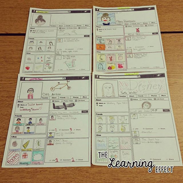 The Westing Game Character Facebook Profile Pages   The Learning Effect