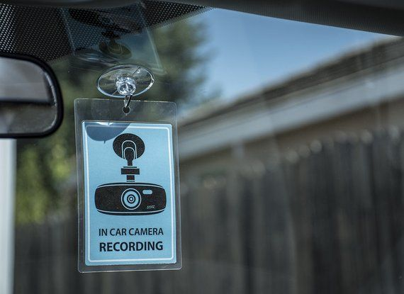 Dash Camera In Car Recording Sign - 2 Placard - Rideshare