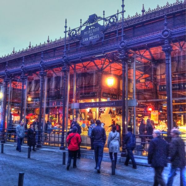 The Mercado de San Miguel in Madrid is one of the best places to go for a little of everything local, or tapas-style shopping. They are always busy. Whether you are looking for ham or oysters, fresh fruits or desserts, coffee or wine, they have it all in a beautiful setting.