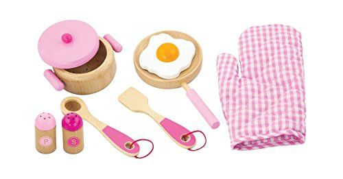 Viga Pink Wooden Kitchen Utensil Set #50116