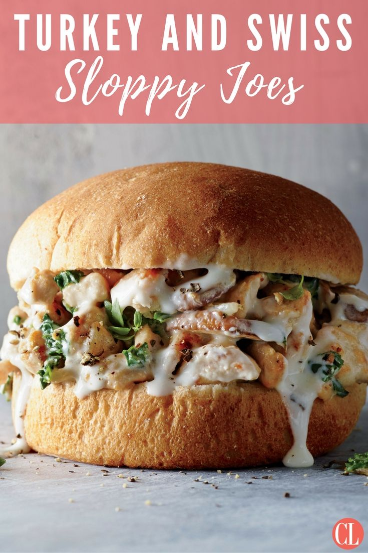 This twist on a classic sloppy joe sandwich swaps the sweet, barbecue-style sauce for a white sauce enriched with nutty Swiss cheese and trades turkey for beef. | Cooking Light
