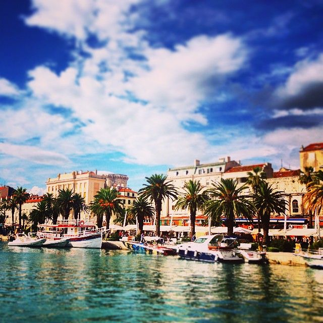 Day or night, Split, Croatia shines. Photo courtesy of carebearabroad on Instagram.