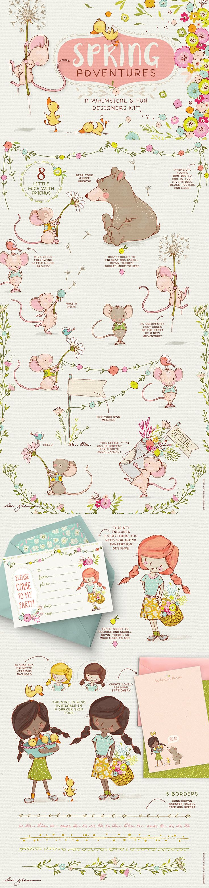 Spring Adventures: Intro 32% Off by Lisa Glanz on @creativemarket